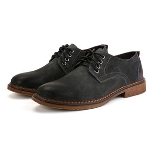 Büyük Beden İtalyan Formal Oxford İçin Kış Deri Düşük En Ayakkabı * v2052 İş Deri Ayakkabı İle Yeni Erkekler Süet Günlük Ayakkabılar