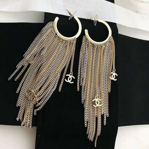 Di alta qualità gioielli dal design di lusso delle donne orecchini lunghi della nappa orecchini in ottone gioielli delle donne del partito di modo di trasporto gratuito