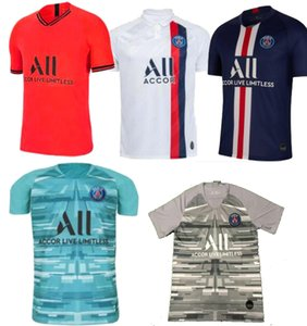 2019 ينطبق على مشجعي باريس الرجال Maillots de foot 19 20 PSG NAVAS بلوزات حارس مرمى كرة القدم MBAPPE MARQUINHOS camisetas لكرة القدم 2020
