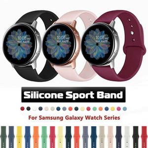Pulsera 20mm Deporte correa de silicona para Samsung Galaxy reloj activo 2 40mm 44mm Gomas de reemplazo de la correa de muñeca