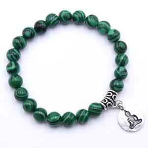 NEW Natural Stone Strand Bracelet Yoga Chakra Bracelet OM Lotus Women Men Beaded Charm Bracelet Jewelry Pulseras dropshipping