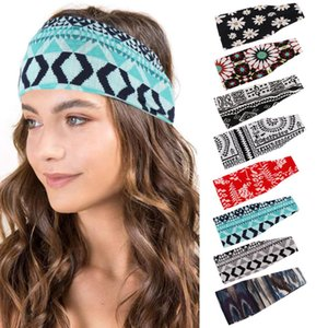 2020 New Fashion Print Stripe headdress women Headbands soft stretch ladies headwear hair Ribbons for outdoor sports yoga