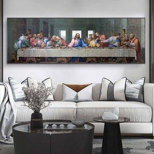 Wall Art Posterler Ve Baskılar Ünlü Mesih Sanat Resimleri Duvar Dekor Last Supper tarafından Leonardo da Vinci Tuval Tablolar