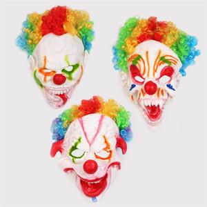 Halloween máscara de palhaço Halloween Full Face Horror Masquerade assustador máscara de silicone engraçados terror assustador Cosplay Props