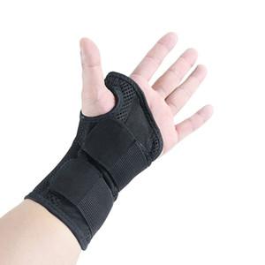 Unisex Luvas de Duas Vias de Pressão Estável Apoio Placa de Aço Braçadeiras Mão do Rato Entorse Pulseira Ajustável Cinto Respirável