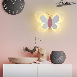 Nordic Dream Butterfly LED Wall Lamp Lighting Modern Children's Room Decorative Wall Lights Bedroom Living Room Aisle Fixtures