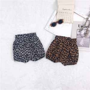 INS Verão New Kids'shorts Korean Leopard-impressão Padaria calças para o desgaste do bebê Girls Crianças Leopard projetos dos miúdos Meninas Bloomer