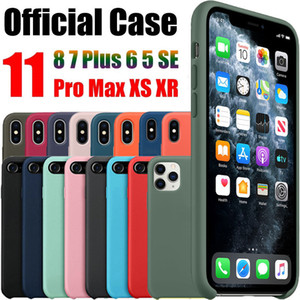 Funda Original oficial para Apple iPhone X Xs X XR 11 Pro MAX fundas de silicona para iPhone 7 8 Plus 11 6 5 6 s 5S 5c SE caso Logo