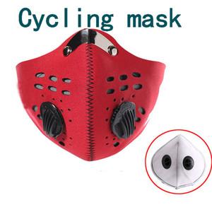 la mascherina del carbonio Maschere Attivato polvere e mantenere vento caldo antistatico antigraffio ciclismo mascherare Trasporto libero da DHL