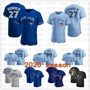 27 Guerrero Jr. Toronto 2020 Blue Jay Men Women Youth Randal Grichuk Teoscar Hernandez Justin Smoak Rowdy Tellez Cavan Biggio Jersey