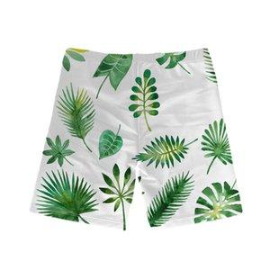 2018 Swim Trunks Swimsuit 5-12 Anos Beach Boy Shorts Beachwear Folha de Crianças Boy Imprimir
