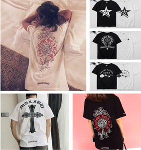 Moda Tees For Men mulheres t-shirt Chrome Hearts Hip Hop Mens Cotton off roupa T-shirt fãs gola redonda Tops Summer manga curta desgaste