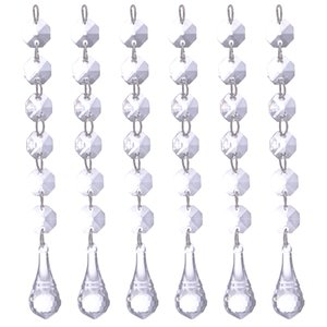 12pcs set Crystal Bead Curtain Beads Rondelles Beads Chain Pendant Wedding Decoration Hanging Curtain Home Curtains