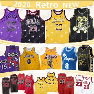 2020 NEW Dennis Rodman 91 NCAA Vince Carter 15 Basketball-Trikot 23 Michael Scottie Pippen 33 Trikots