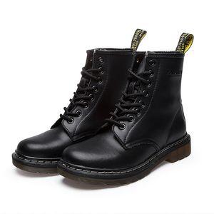 Kış Ayakkabı Bay Bot Yürüyüş Gerçek Deri Erkek Ayakkabı Yuvarlak Burun Moda Boots For Men Bilek Boots Hombre