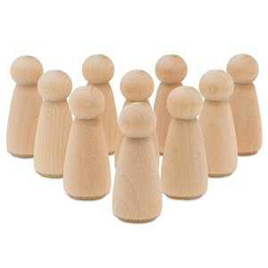 Wooden Peg Doll People Set Of 50 Includes Unfinished Wooden Peg Doll Bodies Great For Arts And Crafts