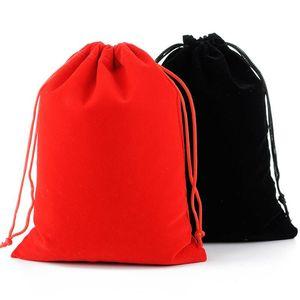 17x23CM كبير حقيبة الرباط حفل زفاف لصالح مجوهرات ماكياج packaing للهدية المخملية الحقيبة حقيبة شحن مجاني LX8630