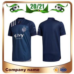 2020 MLS Sporting Kansas City Jersey 20/21 fútbol ausente # 9 # 13 Busio RUSSELL # 7 GERSO la camisa del fútbol # 12 KINDA Uniforme de fútbol