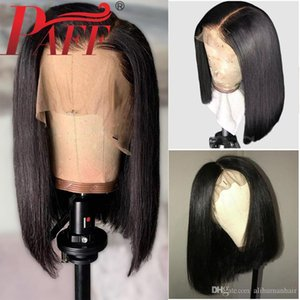 13x5 Short Lace Front Human Hair Wigs 150% Density Brazilian Straight Bob Lace Frontal Wig For Women Remy