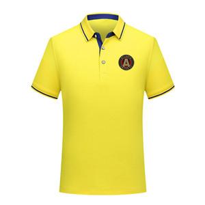 Polos MLS Atlanta United FC Polo Futebol de manga curta polo formação Moda Sports Soccer Football Polos T-shirt dos homens Jersey