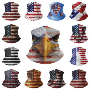 미국 주식 사이클링 스포츠 마스크 미국 국기 인쇄 된 얼굴 사냥 모터 사이클 낚시 스카프 반다나 넥 게이터 모자 머리띠 마스크