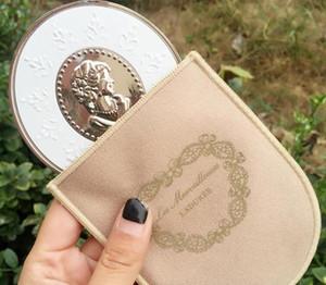 새로운 LADUREE Les Merveilleuses miroir de poche 핸드 미러 빈티지 금속 홀더 포켓 화장품 메이크업 거울과 함께 운반 가방 소매 패키지