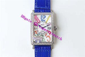 GF 롱 아일랜드 컬러 꿈 다이아몬드 시계 여성 CNC 316L 스테인레스 스틸 여성 시계 스위스 (952) 석영 운동 사파이어 에나멜 다이얼