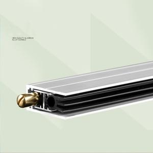 soundproof live streaming strip Custom Made Automatic Door Seals Hotel Home Wooden Door Bottom Sweep Seal Strip Aluminium Holder