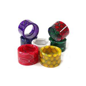 Honeycomb Astuce goutte à goutte pour TFV16 réservoir Atomiseur TFV 16 Cobra Snake Skin Embouchure résine époxy Vape Accessoires Ecig DHL gratuit