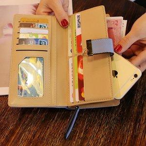 2020 new Korean version of women's wallet long fashion hand bag hollow leaves zip buckle wallet