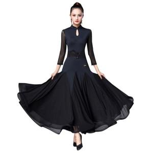 Kadın Ballroom Dance Standart Elbise Kayışlı Modern Vals Tango Ballroom Dance Elbise Standard Smooth