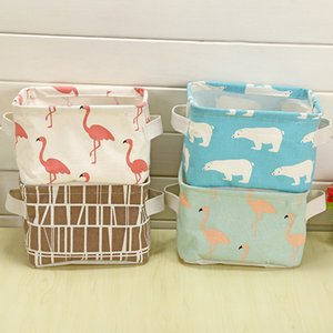 Dobrável Diversos Armazenamento Bin Closet Toy Box Container Organizer pano de armazenamento lavatório Cosméticos mesa Basket Bags FFA3734