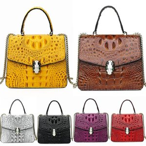 Hot Sales Brand Designer Women Crocodile Shoulder Bag All Cow Leather Bags Durable Top End Quality 35Cm Width Good Package Factory Prices#638