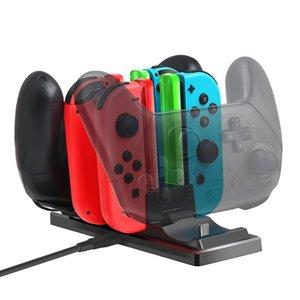 6 in 1 Charging Dock Station Controller Ladehalter-Standplatz LED-Anzeige für Nintendo Schalter Joy-con Pro-Controller-Ladegerät