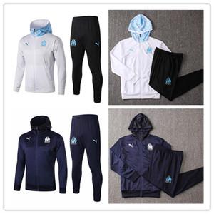 2019 2020 марсель мужская куртка балахон Ocampos длинным рукавом Балотелли костюмы футбол Джерси с капюшоном тренировка рубашка Пайе зимнее пальто