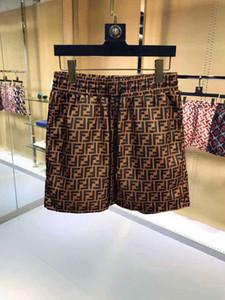 2019 novo verão moda tecido impermeável Designer Homens Letter PrintedBeach Pants Mens Board Shorts Homens Surf Shorts sunga Esporte Shorts