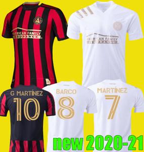جديد 2020 2021 MLS أتلانتا FC المتحدة لكرة القدم جيرسي الرئيسية بعيدا البيضاء 20 21 G.MARTINEZ مارتينيز NAGBE BARCO VILLALBA القمصان الموحدة لكرة القدم
