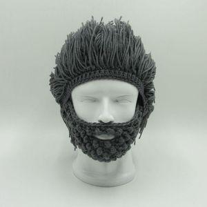 Wig Beard Hats Hobo Mad Scientist Rasta Caveman Handmade Knit Warm Winter Caps Men Women Halloween Gift Funny Party Mask