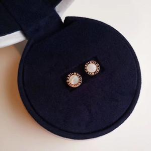 Nueva llegada S925 plata pura pendientes del perno prisionero del encanto con la cáscara blanca y ágata negro dama de la moda Pendiente de lujo para la niña PS579 joyería de la boda