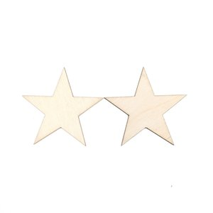 10-80mm Wooden Stars Cutout Shapes Wooden Ornaments Wooden Embellishments for DIY Arts and Crafts Christmas Wedding Decor