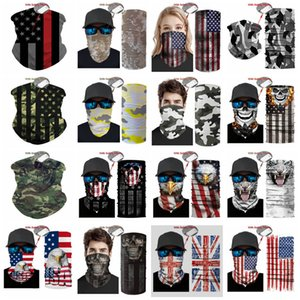 new USA Flag magic headscarf bandana cycling masks Head Neck Scarves Windproof Sport Camouflag face mask with FiltereT2I51008
