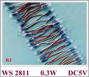방수 IP67 WS 2811 풀 컬러 LED 픽셀 조명 모듈은 기호 문자 PVC DC5V 0.3W WS2811 CE 빛 문자열을 노출 LED