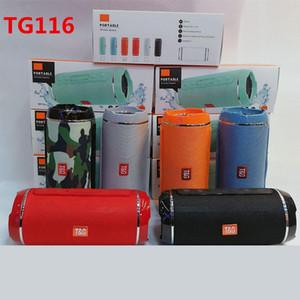 Wireless TG116 Doble Cuerno de tela neta Bluetooth Altavoz mini portátil de la ayuda del altavoz TF tarjeta a mano libres estéreo Mic para el teléfono móvil