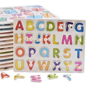 55 estilos de madera de educación temprana juguetes mano de los niños agarrar número alfabeto fruta animal vegetal ENVÍO GRATIS