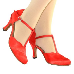 XSG Красный дамы латинский обувь танец живота обувь заголовка взрослого современный танец бальные танцы туфли на высоком каблуке женщины носят пятно обуви этапа