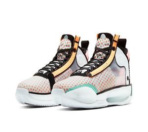 2020 Scarpe AJ34 Guo Ailun Bassa PE Pop Art Uomo Donna Bambino di pallacanestro con le scarpe da Hot Box Jumpman XXXIV Sport Dimensioni 7-12