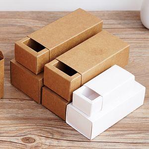 Esansiyel Yağı Damlalık Şişe Takı Hediye Kutusu 20pcs- Packaging Kozmetik için Boş Beyaz Kraft Kağıt Çekmece Kutuları 10 30 50 100 ml