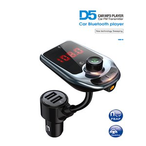 Wholesale car mp3 player bluetooth fm transmitter receiver QC3.0 USB quick multi-function car charger screen display TF card U disk