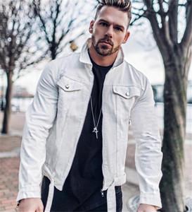 20FW Mens Designer Jacket Casual Sólidos Brasão Cor Jean Moda manga comprida lapela pescoço Zipper Jacket Mens Clothing