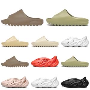 Top Kanye West Desert Sand Resin Slipper Bone Earth Brown Designer Shoes Foam Runner Men Women Sandals Size 5-11